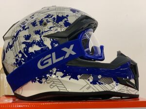 GLX helmet with accessories