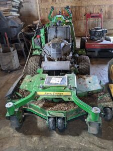 John Deere W48R Walk Behind Mower with the Sulky less than 300 hours