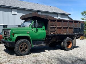 1974 Chevy C-65 single axle dump truck