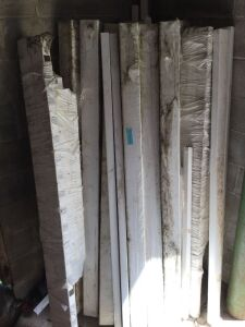 Lot of White Vinyl Fencing