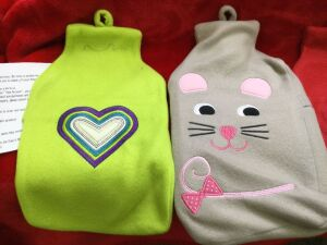 Pair of Hot Water Bottles and Felt Covers